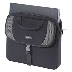 "Targus, 15.4"" Laptop Slip Case Notebook Carrying Case 15.4"" Gray, Black ""Product Category: Supplies & Accessories/Notebook Carrying Cases"""