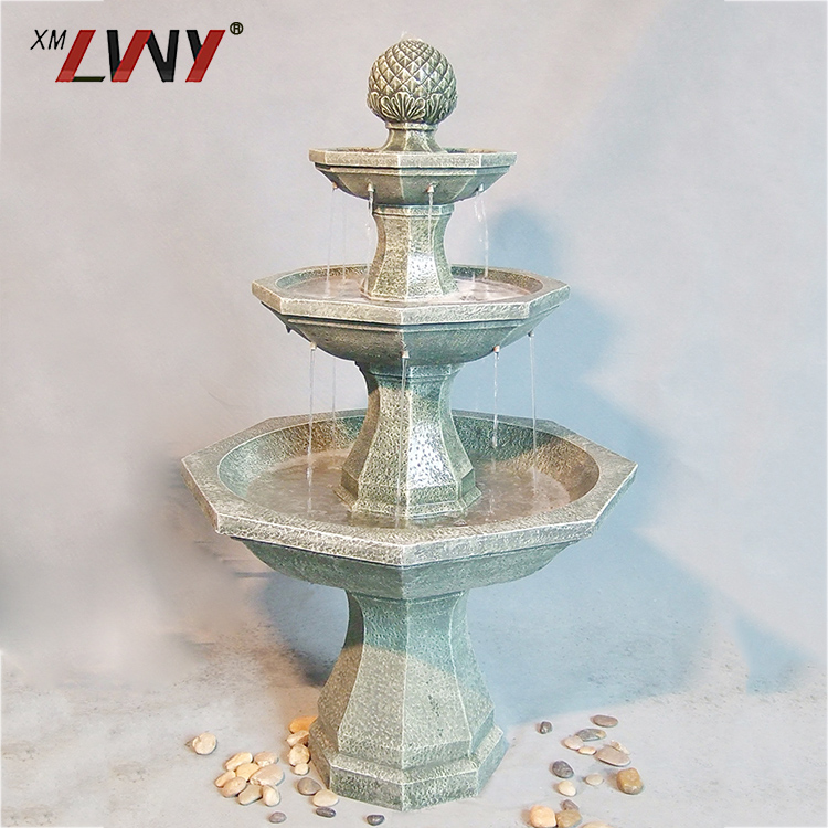 Cheap Garden Decoration Abstract Floor Standing Polyresin Water Fountain