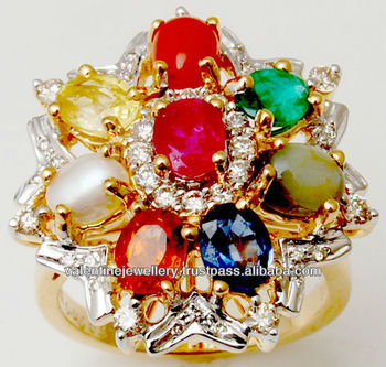 Precious Multicolor Gemstone Jewelry,Lucky Gemstones Navratna ...