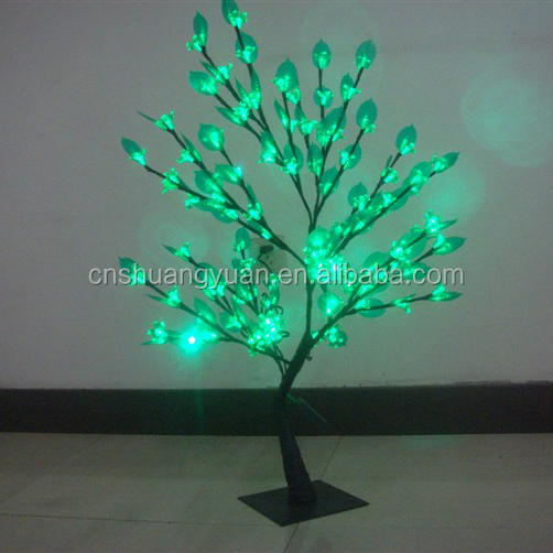 1.5 meters army green color Led Christmas light tree