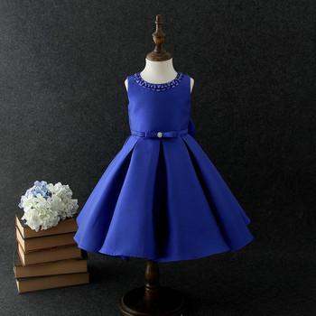 3b953af09b2b 2018 Kids Infant Girls Blue Dress Children Elegant Dress Pageant ...
