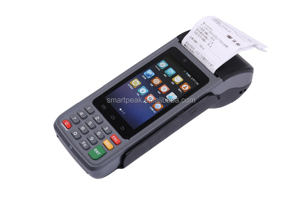 Android Rugged/handheld pos devices/pda with build-in printer/bluetooth/laser scanner/chip card/MRS/contactless card read EMV/CE