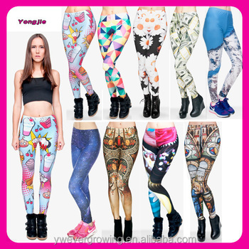0987b9921138f Alibaba Wholesale New Arrival Multi-design 3D Digital Sublimation Printed  Fitness Sexy Leggings for Women