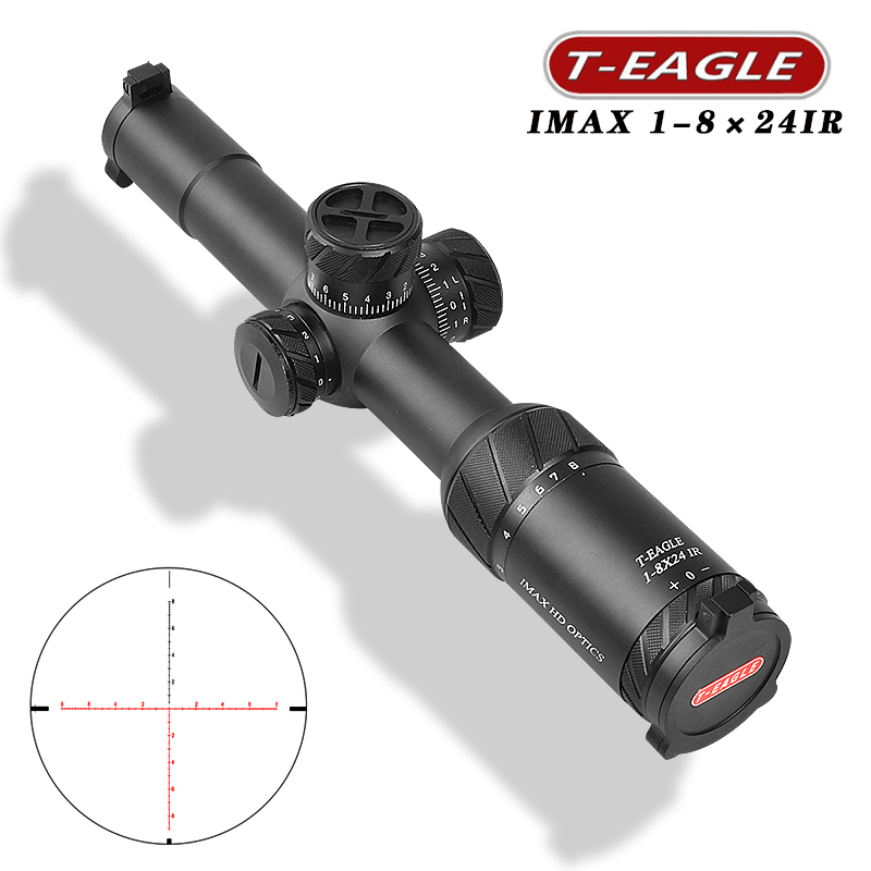 T-Eagle IMAX ED 1-8x24 IR Tactical RiflesScope for pcp Air gun sniper hunting Optics sight Illuminate Riflescope for Shooting