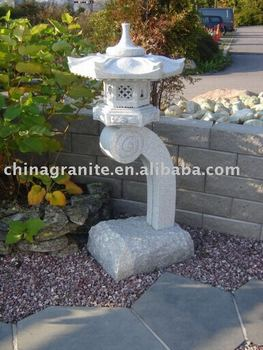 Japonais granite jardin lanterne buy product on for Lanterne jardin japonais