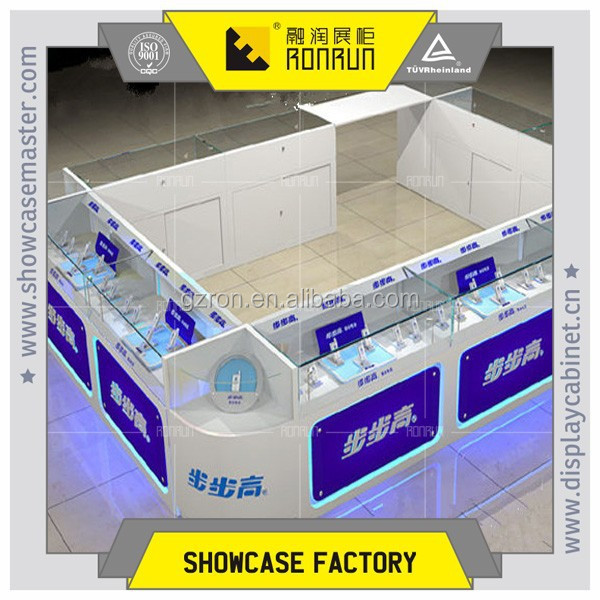 Popular phone display layout ,display stand ,with storage cabinet for phone shop