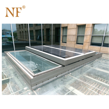 aluminium frame automatic slide glass skylights