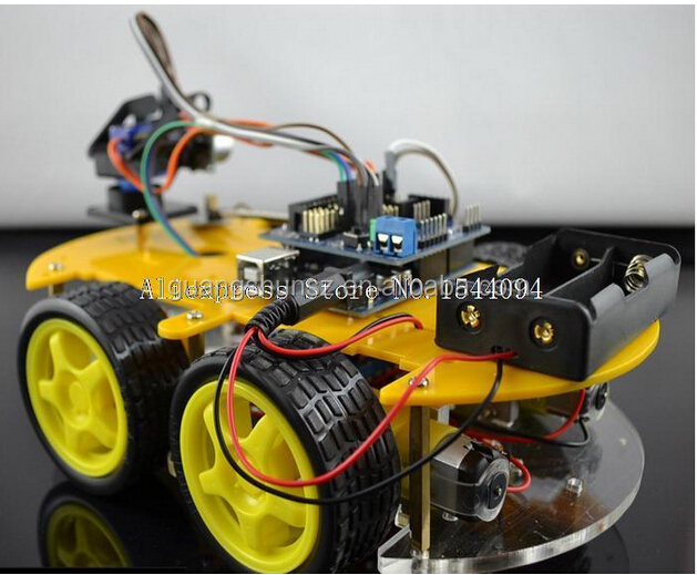 Robot Car Kit Bluetooth Chassis suit Tracking Compatible UNO R3 DIY RC Electronic toy robot