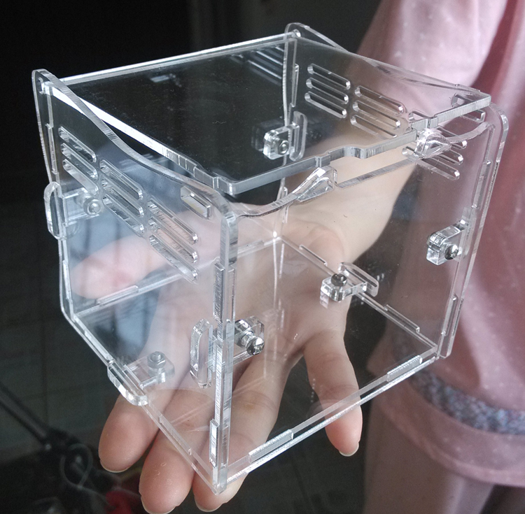 customize elegant clear rectangle acrylic reptile terrarium