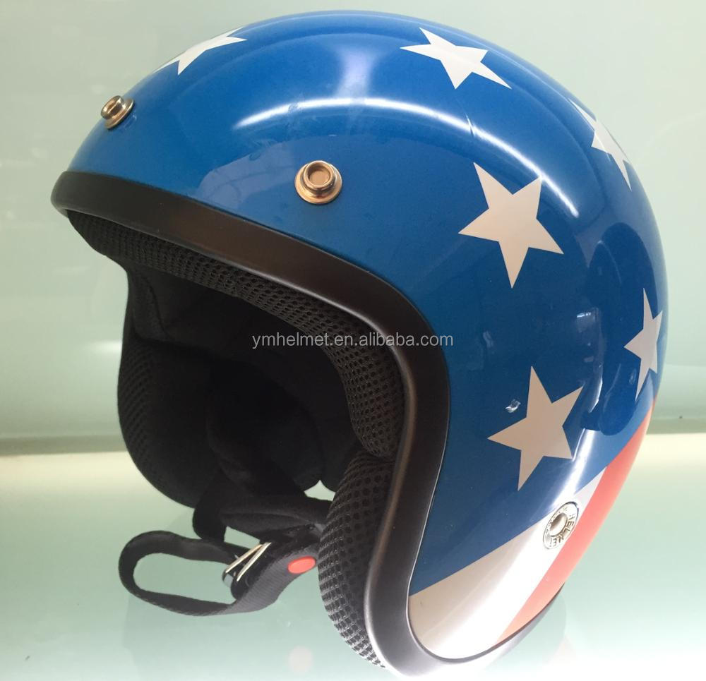 Wholesale helmet open face with ECE R 22.05 approved retro casque moto motorcycle helmet