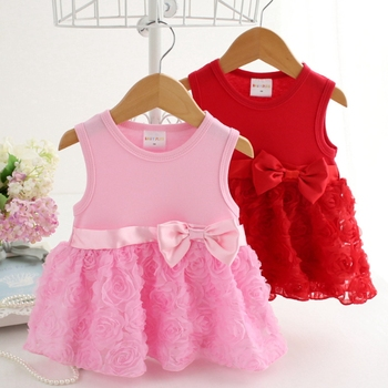 Ms61809k Rose Design Fashion 2016 Summer Baby Girl Dress Stitching ...
