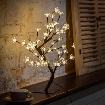 2018 Top Sale Home Decoration Led Desk Top Bonsai Tree Led Cherry Blossom Tree Light