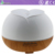 Home ultrasonic wood grain 7 color horseshoe fragrance lamp quiet air humidifier essential oil diffuser
