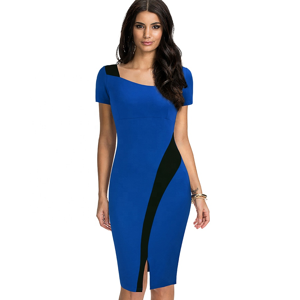 Women Casual Sheath Bodycon Elegant Office Career Dress фото