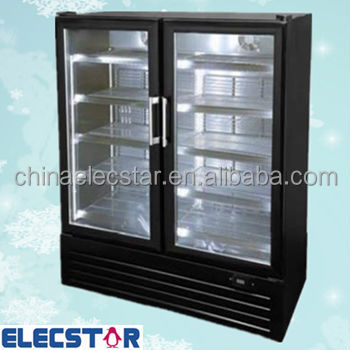 Glass door upright display cooler glass door for 1 door display chiller