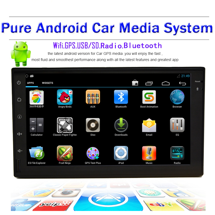 Rear Camera Universal 7 inch Android 4 2 Car Tablet PC Double 2 Din In Dash