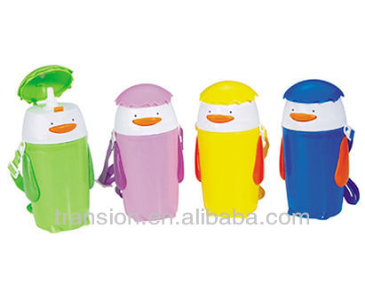 Children water kettle with sucker small size penguin design water kettle