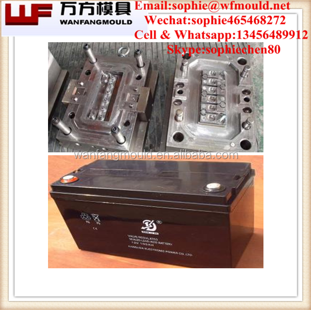 China supply quality abs battery container N40 mould/OEM Custom plastic injection car battery boxes mold