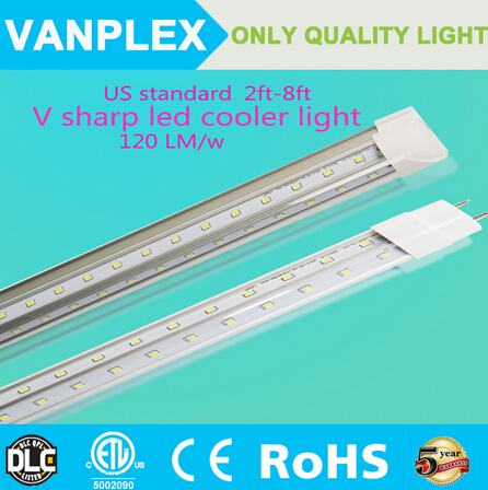 Superior shop light 4ft and 5ft Cooler Door Led Tubes T8 Integrated Led Tubes