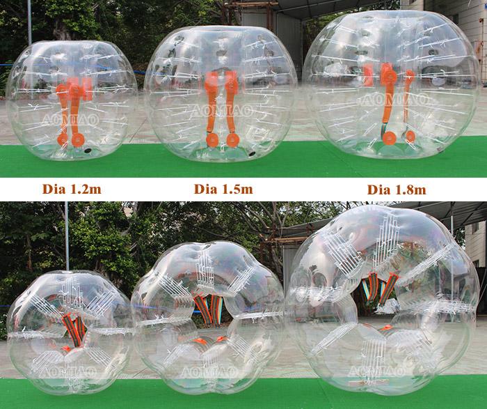 Melhor venda PVC/TPU bola bolha de futebol, bola de futebol bolha, bolha de futebol