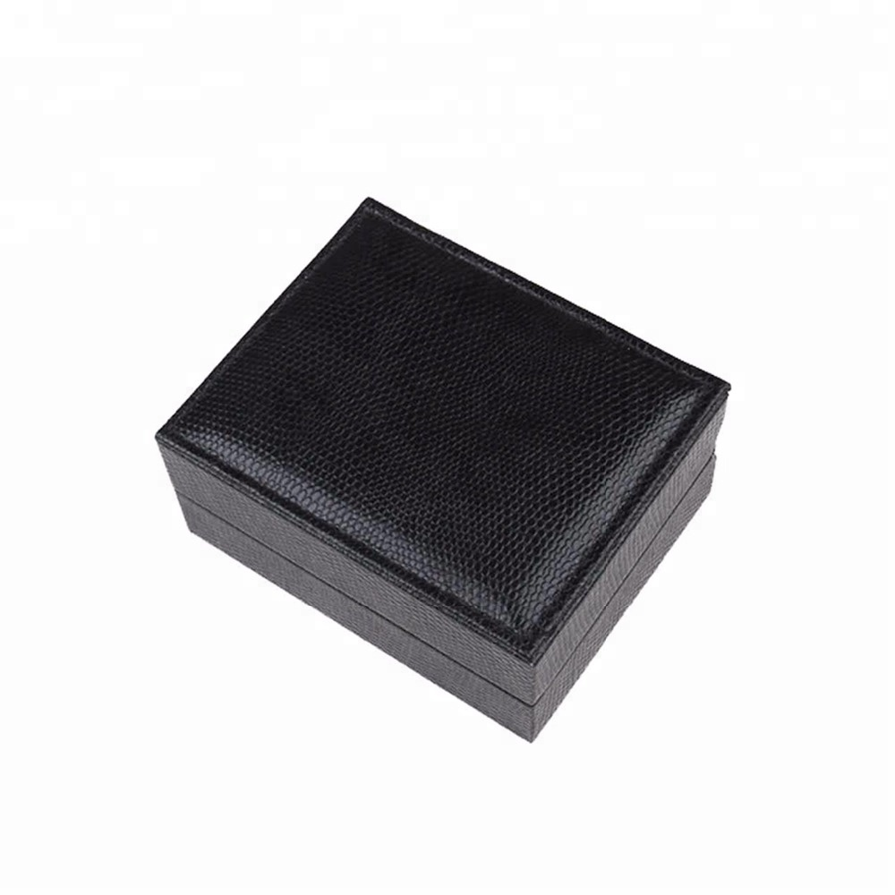 Factory custom luxury handmade brown leather cufflink box