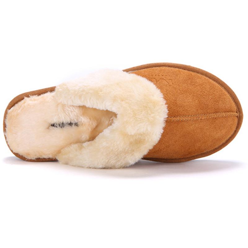 adc7ef574932 2016 Hot Sale Luxury Winter Plush Leather Furry Flip Flops House Fuzzy Fur  Soft Bedroom Australian ...