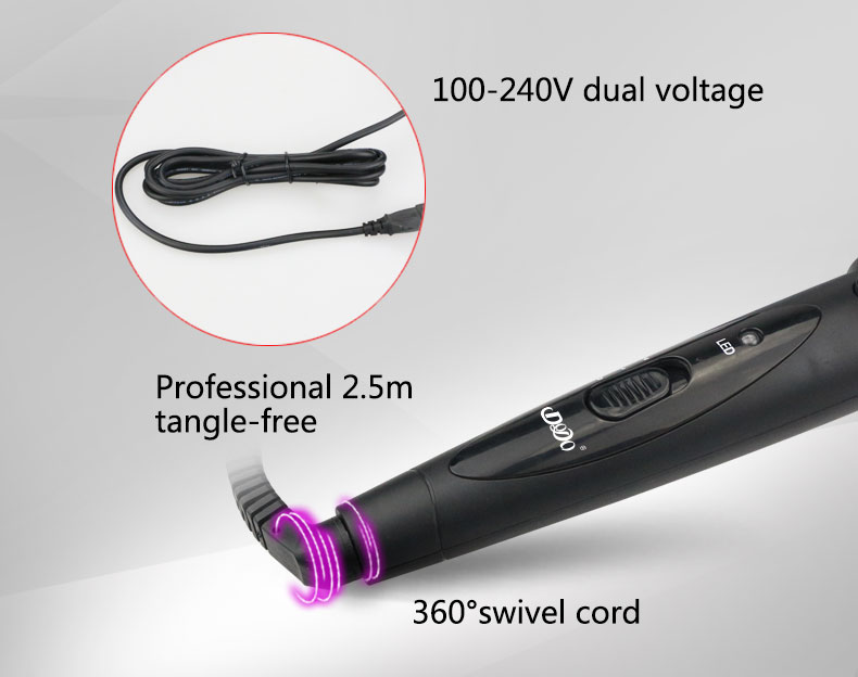 Best LED 3 in 1 automatic hair curler rotating hair roller curler set professional hair straightener curler