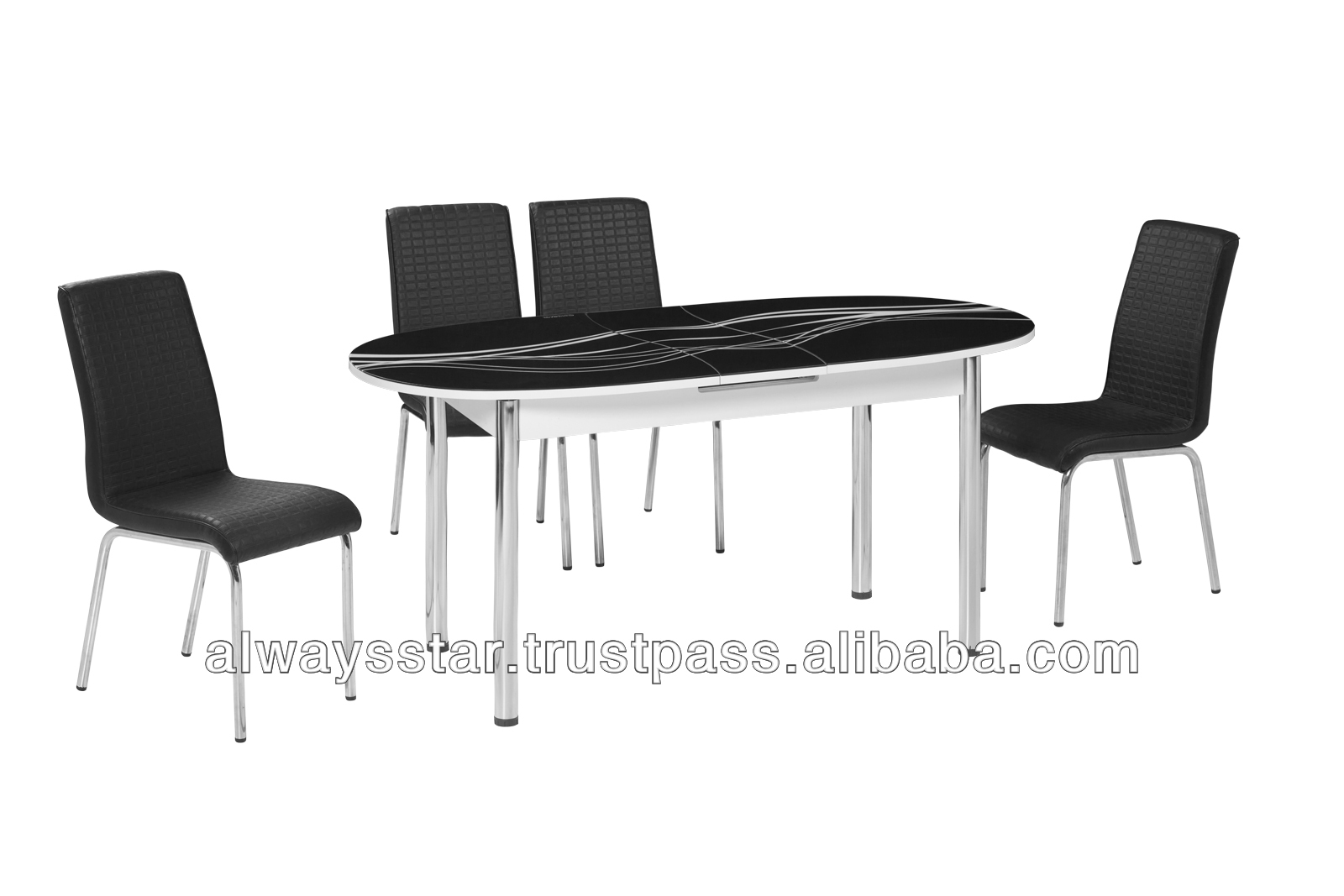 M 18 Uzatlabilir eliptik oval Siyah Yemek odas seti  : M 18 Extendable elliptical oval Black Dining from turkish.alibaba.com size 1600 x 1067 jpeg 255kB