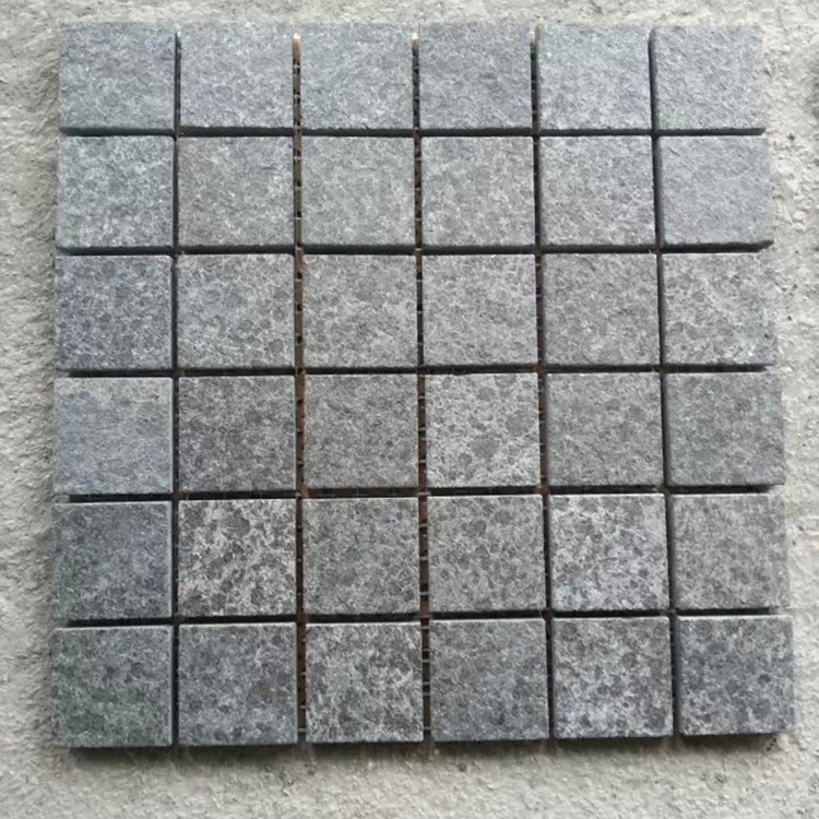 G684 Granite Brick Cube Stone Paver Black Stone Cobble Floor Paving