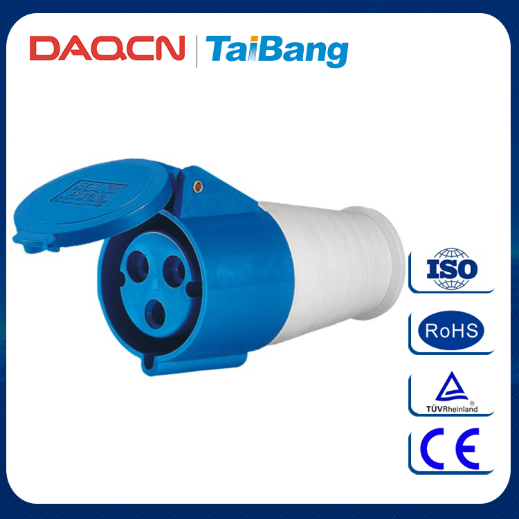 DAQCN Mega March Best Selling Products 16 Amps Nylon Industrial Socket With 3 Pole