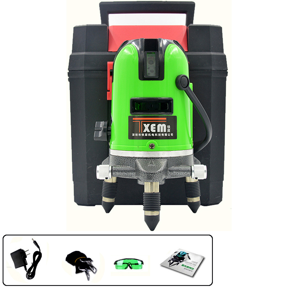 FS5-G2016 532nm green beam rotary laser level 5 beams 6 points extra bright self leveling construction laser level machine