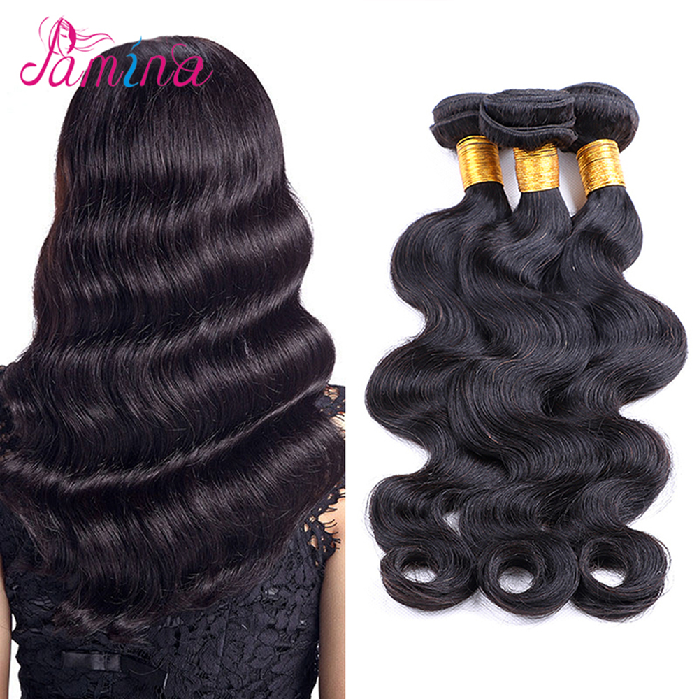 9a Grade European Virgin Remy Human Hair Body Wave Bundles Wholesale Crochet Hair Extensions, Natural black color;can be dyed any color
