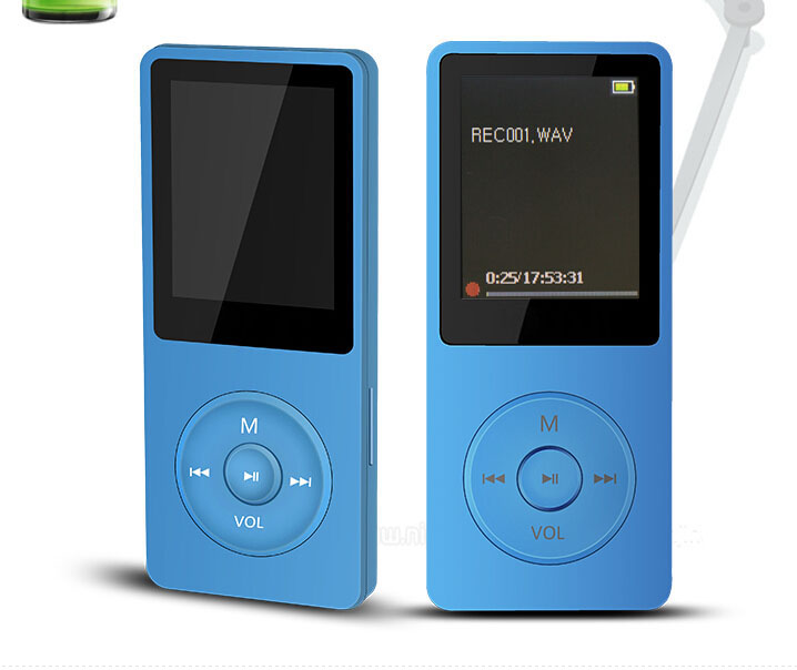 MP4 Player with 2/4/8GB Supports TF Card FM Radio Colorful Design Support SD micro