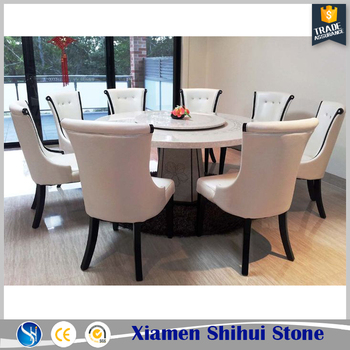 Quartz Stone White Round Dining Tables Top