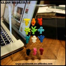 silicone rubber wine beer bottle stopper with glass marker