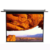 MGF patent high quality electric projection screen hidden in ceiling style home theatre projector screen motorized screen