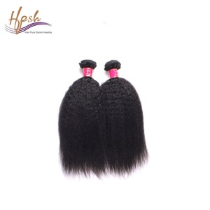 9A wholesale yaki straight brazilian human attachment braids hair weft