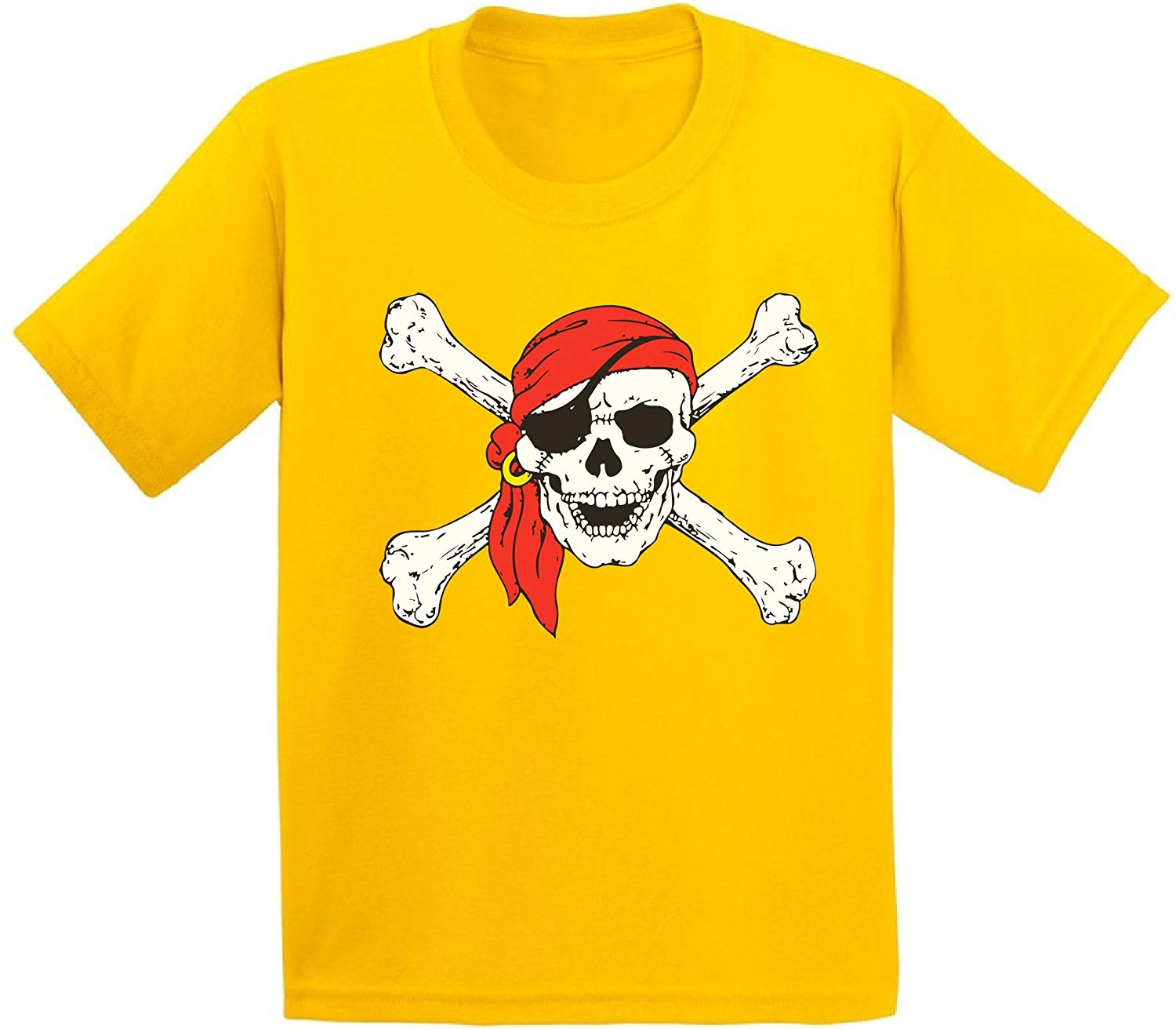 7880e126 Get Quotations · Awkward Styles Jolly Roger Skull & Crossbones Youth T  shirts Kids Tees Pirate Flag Youth T