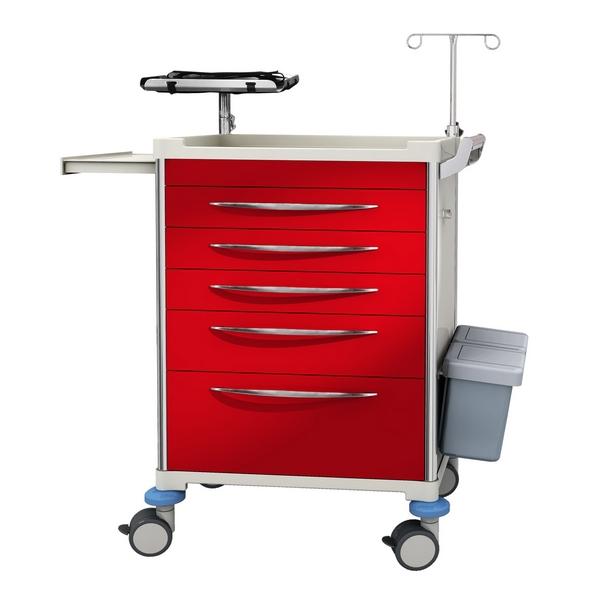 New Design Ergonomic Hospital Medical Emergency Crash Cart