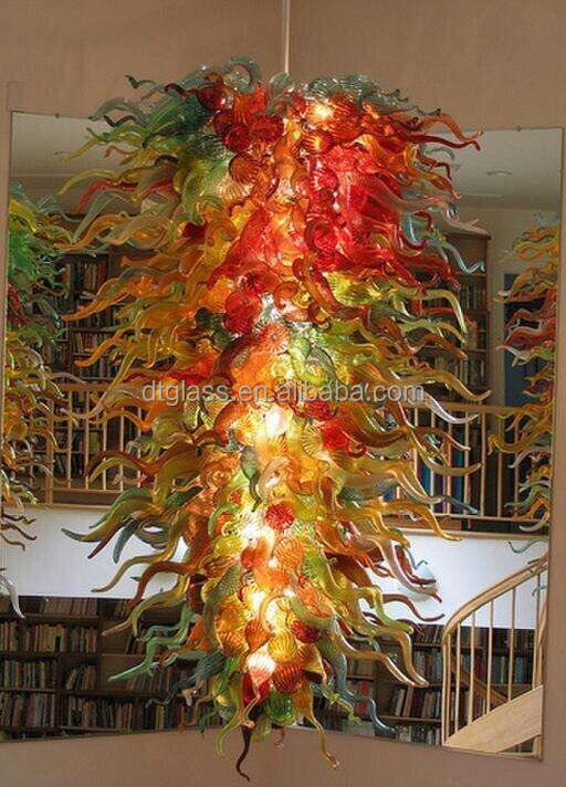 Modern custom made hotel decoration multi colored large hand blown modern custom made hotel decoration multi colored large hand blown glass chandeliers buy hand blown art glass chandeliercoloured glass chandelier aloadofball Choice Image