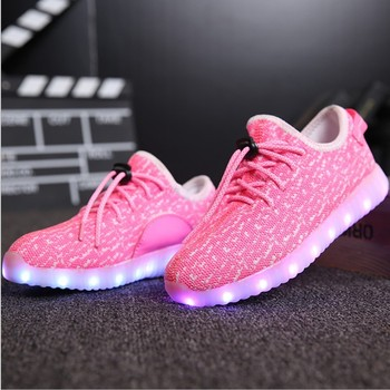 USB charging led light up sneaker shoes