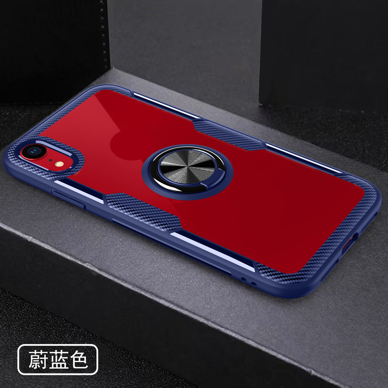 A010 Custom Anti Shock TPU PC Ultra Thin Clear View 9H Tempered Glass Cell Phone Case Cover Shell For Nokia 3.1 Plus/X3, Black;blue;red