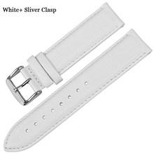 Ремешок для часов MAIKES, простой белый ремешок для часов для мужчин и женщин(China)