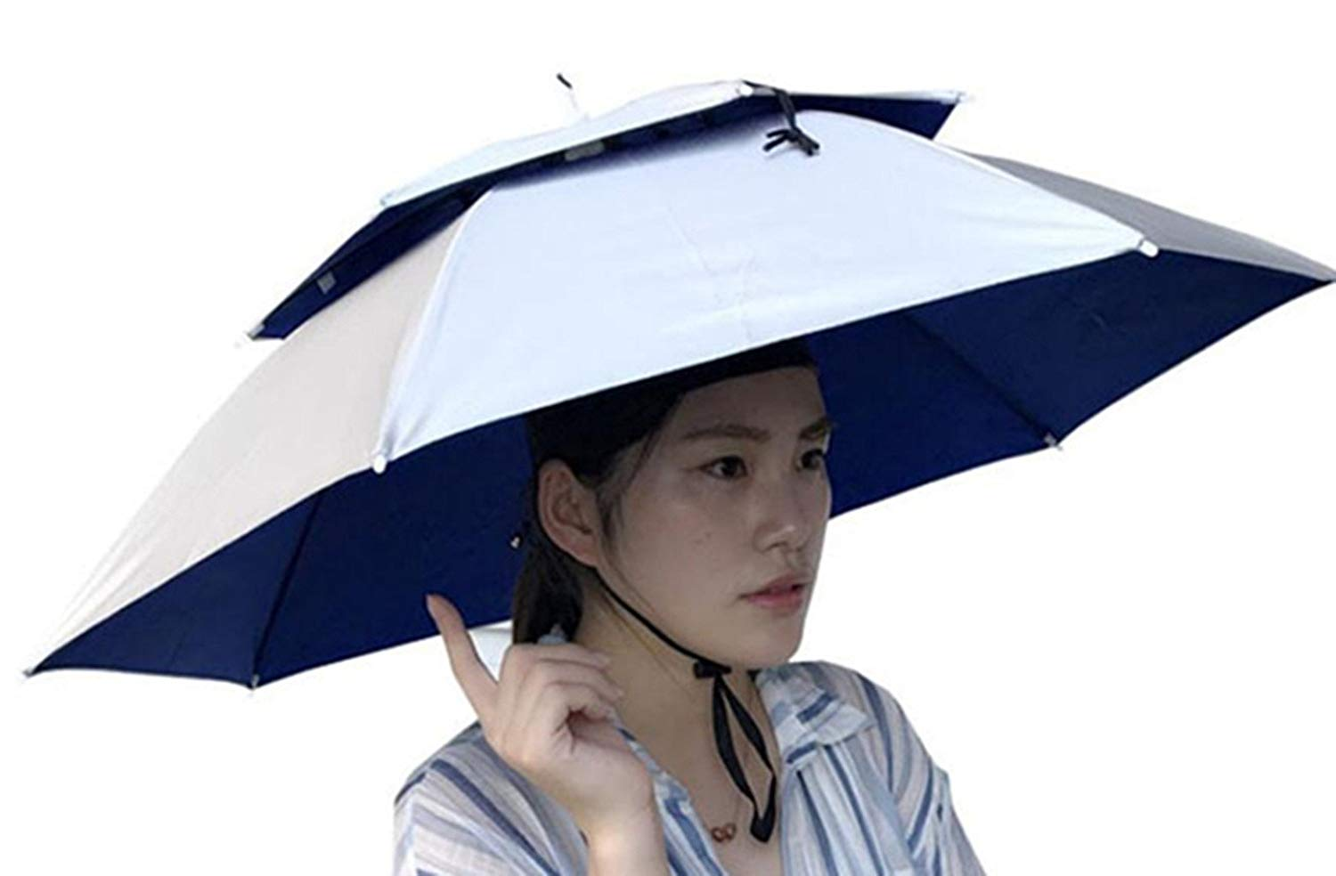 adbb586066f65 Get Quotations · Double Layer Umbrella Hat for Women and Men