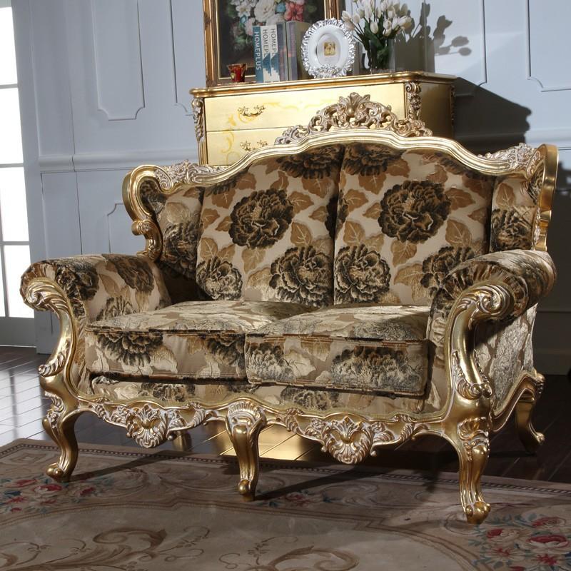 klassische italienische m bel royal blattgold vergoldung massivholz klassisches sofa gesetzt. Black Bedroom Furniture Sets. Home Design Ideas