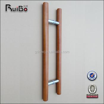 RB-3001W China manufacturer modern main indoor wood door handles ...