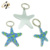 Wholesale cheap custom star design metal soft enamel key ring