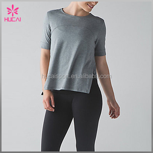Cotton spandex fitness clothes wholesale dry fit sports wear women long sleeve shirt