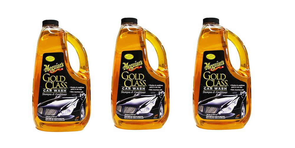 Meguiars G7164 Gold Class Car Wash Shampoo & Conditioner bNjUk, 3Units (Car Wash Shampoo & conditioner)