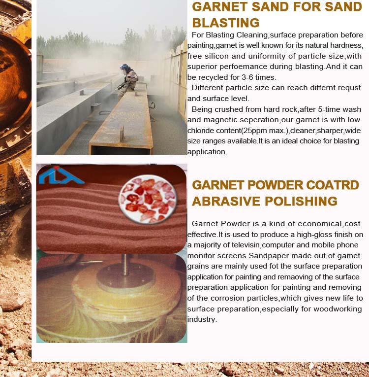 Hot sale gma 80 waterjet areia granada malha vermelho granada areia